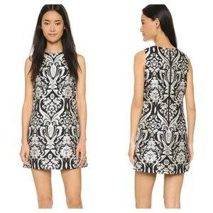 Alice + Olivia Floral Jacquard Shift Dress Black